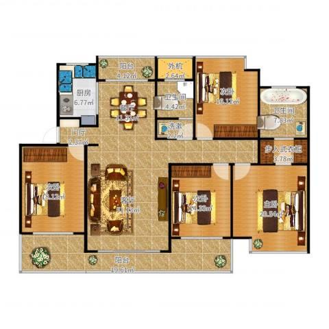 东湖大郡4室1厅2卫1厨214.00㎡户型图