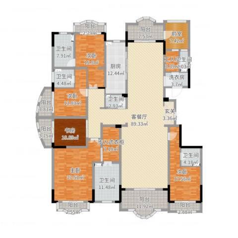中润卡缇亚宫5室2厅6卫1厨346.00㎡户型图