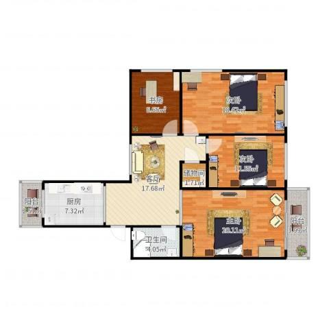 云成里20-6014室1厅1卫1厨120.00㎡户型图