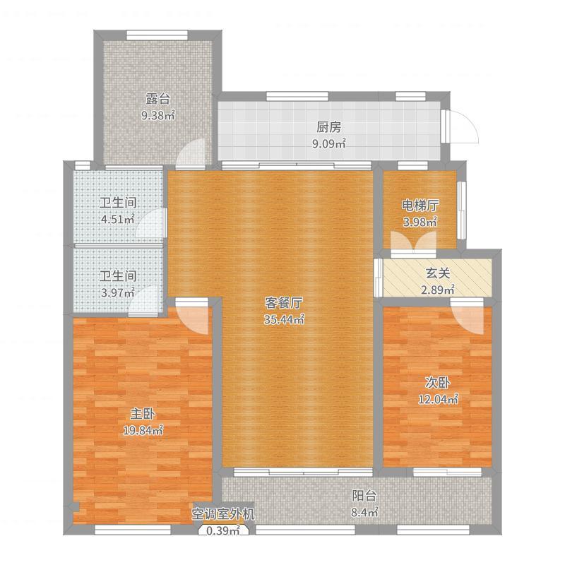 中海国际社区铂悦公馆E1-01户型图