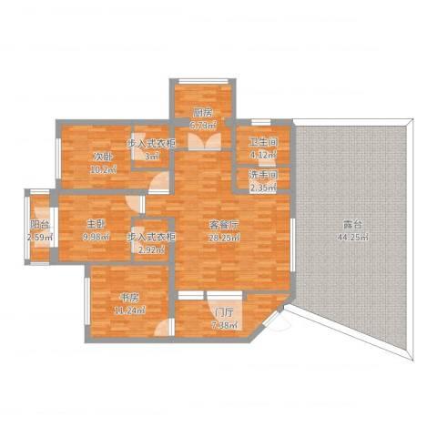 隆礼小区3室2厅1卫1厨166.00㎡户型图
