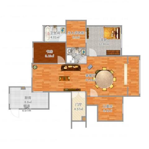 凡尔赛观邸3室2厅6卫1厨126.00㎡户型图