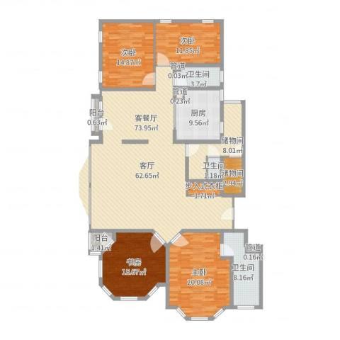 四季香山别墅4室1厅3卫1厨204.00㎡户型图