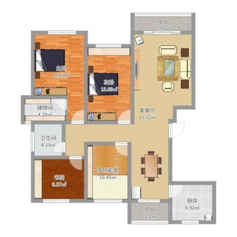 英伦名嘉3室2厅1卫1厨147.00㎡户型图