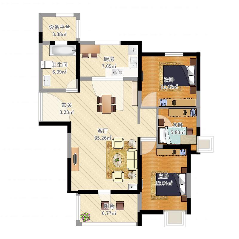 金东城世家户型图