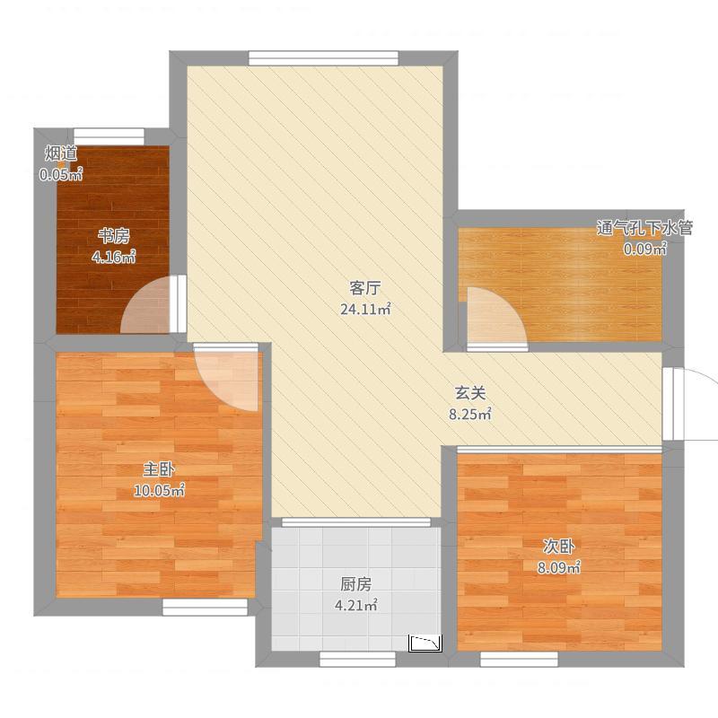 东墙沙发-副本-副本(卫生间开门)户型图