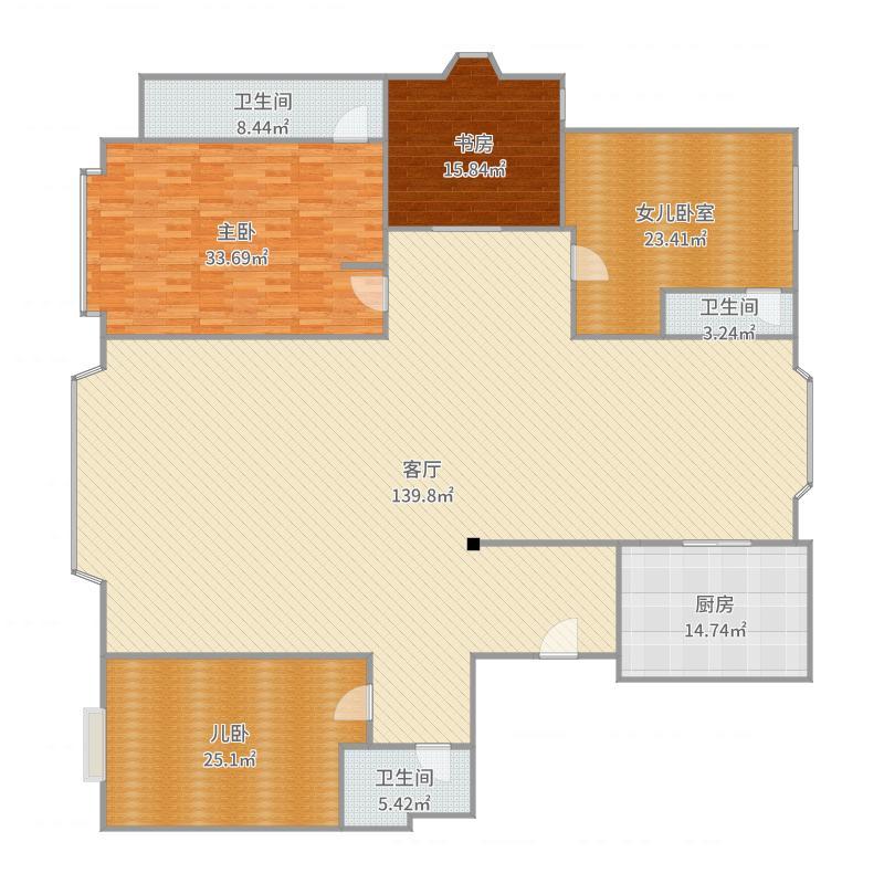 皇廷骏景18#-1-602户型图
