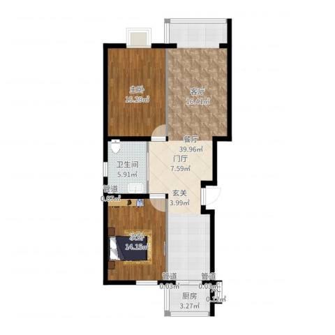 富润家园2室1厅1卫1厨99.00㎡户型图