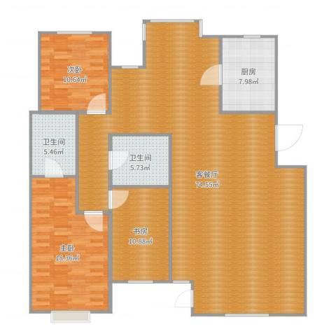 巨海城九区3室2厅2卫1厨167.00㎡户型图