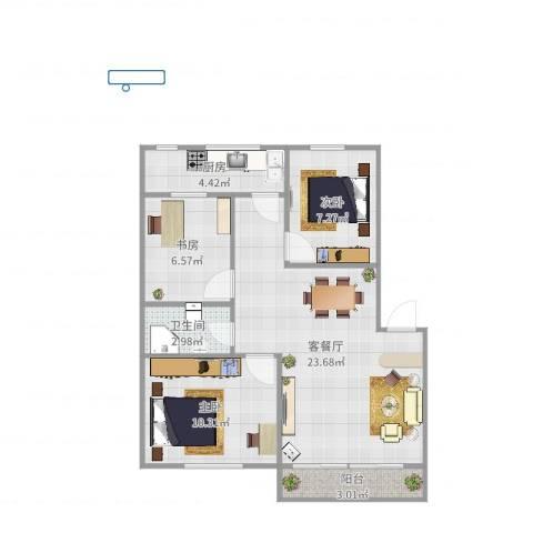 博士新村264#5053室2厅1卫1厨62.00㎡户型图