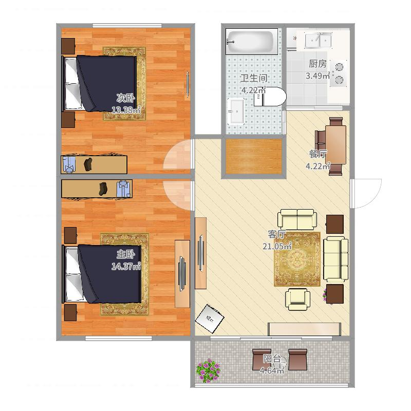 虹鹿花苑一公寓户型图