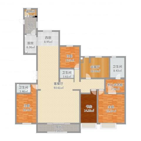 中海御龙湾4室2厅3卫1厨281.00㎡户型图