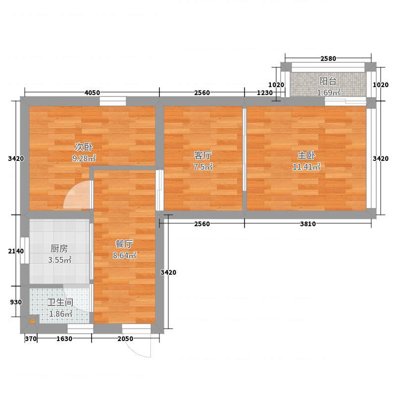 塔城路850弄小区_2017-6-11-1407-副本户型图