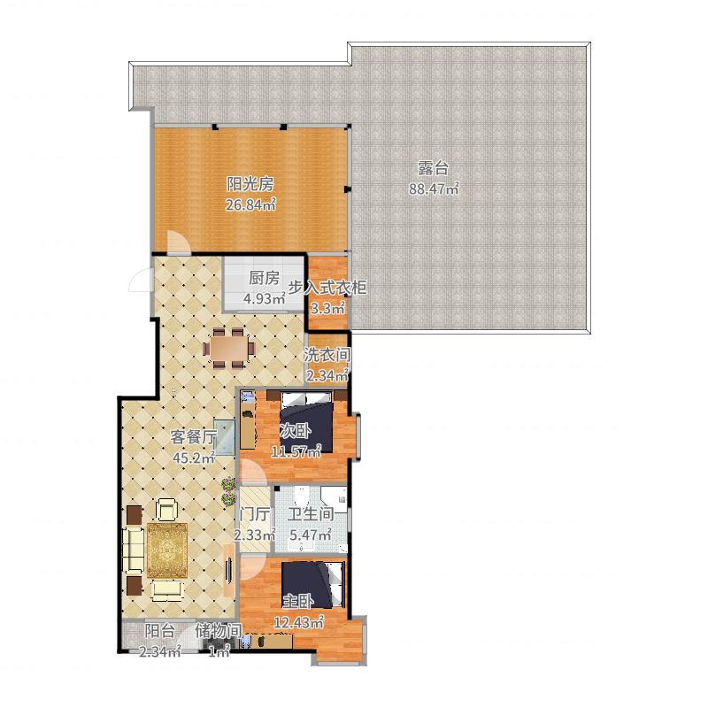 三环新城7号院-副本户型图