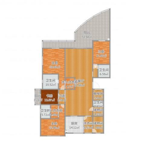 滨海俊园4室2厅4卫1厨372.00㎡户型图