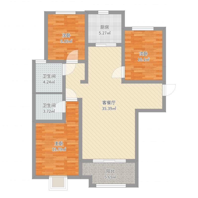 石家庄_天洲视界城_2017-07-22-1425户型图