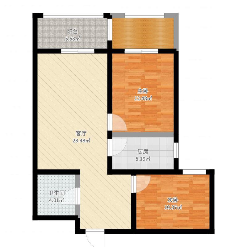 东南智汇城两室户型图