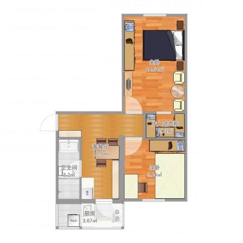 河东区程林丽两室一厅一厨一卫-YSK0272室2厅1卫1厨55.00㎡户型图