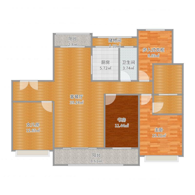 新城公馆余总府邸软装方案2户型图