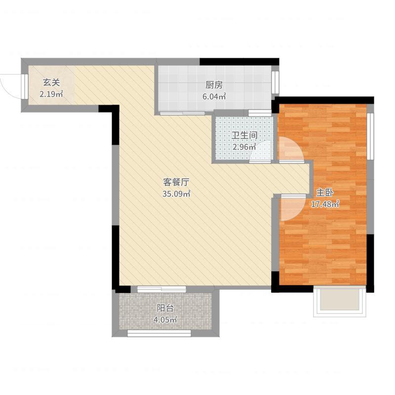 信达滨江蓝庭户型图