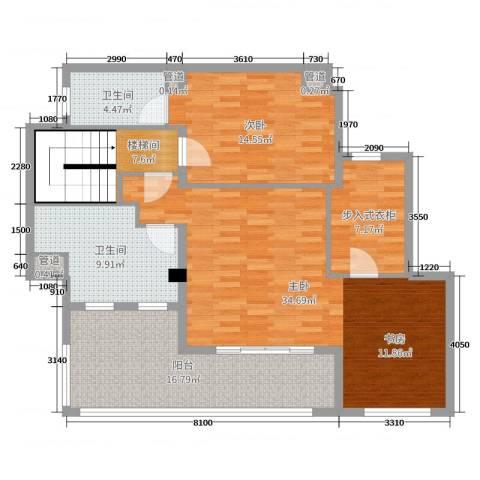 月亮湾3号三期2室0厅2卫0厨240.00㎡户型图