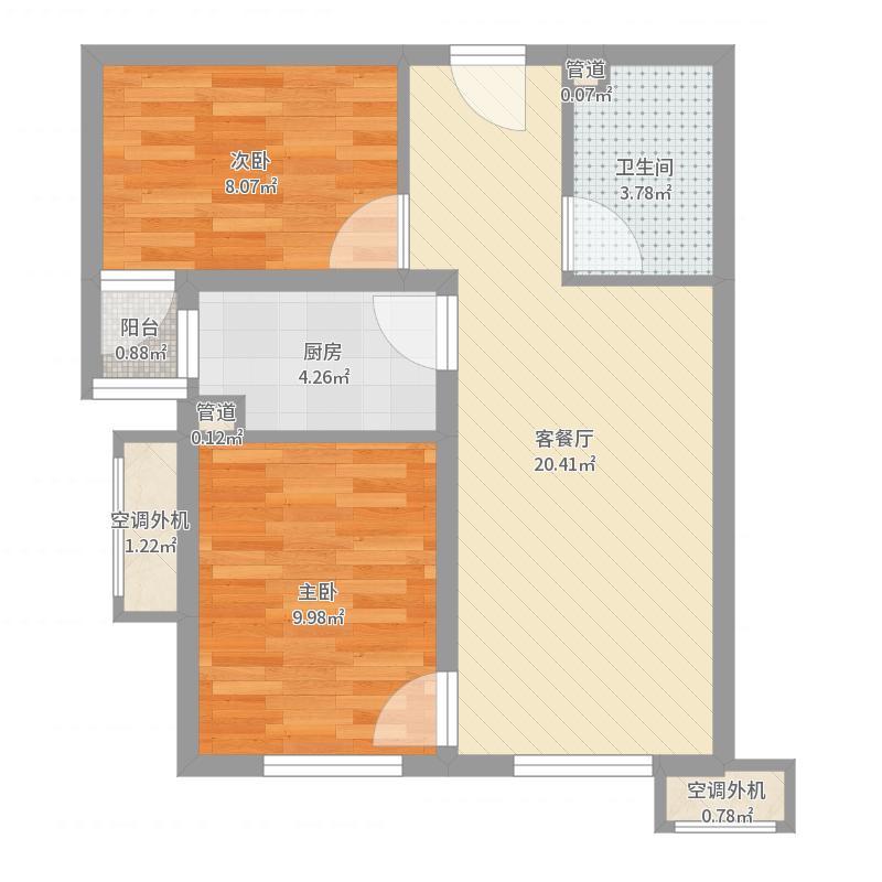 中海长安雅苑 A户型-副本户型图