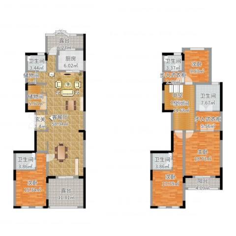 中润卡缇亚宫4室2厅5卫1厨243.00㎡户型图