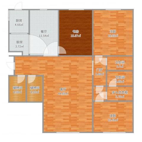 富力城C区3室2厅2卫2厨174.00㎡户型图