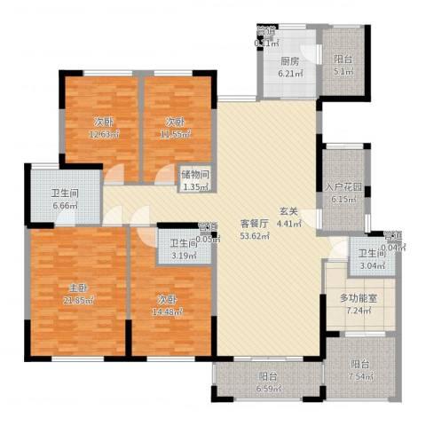 金海岸名邸4室2厅3卫1厨209.00㎡户型图