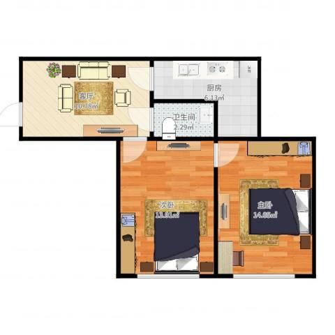 气象东里3-1032室1厅1卫1厨59.00㎡户型图