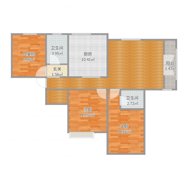 中央公园10号楼——4户型户型图