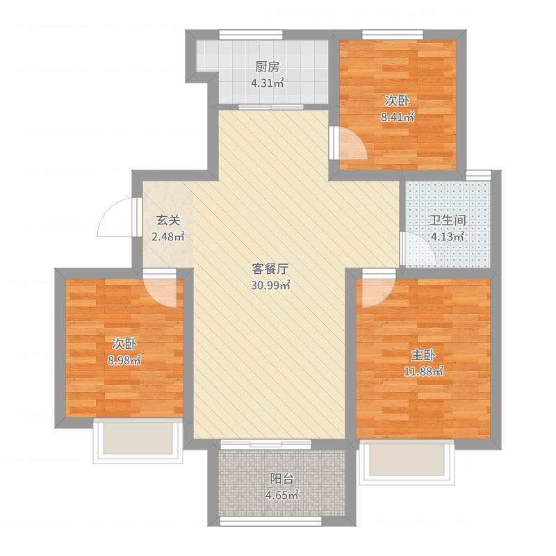 荣盛锦绣观邸户型图