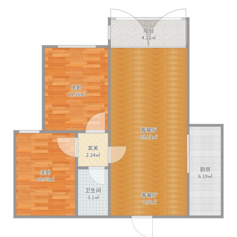 福泽家园93平米-副本户型图