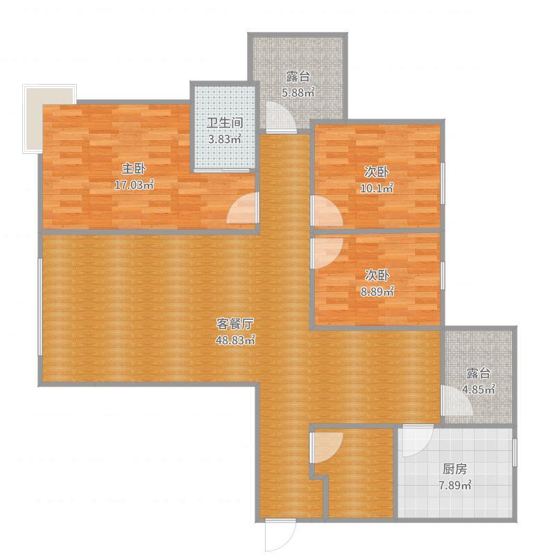 金屋八区1004(133平)书房户型图