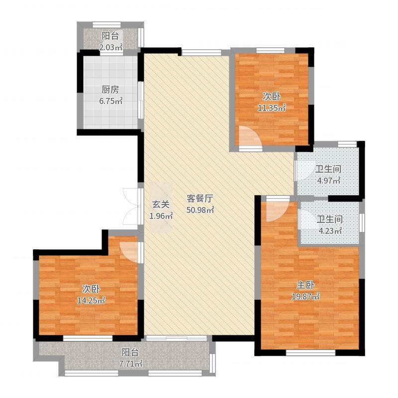 广龙苑6-3-802户型图