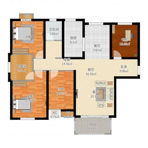 和顺新里程4室1厅2卫1厨165.00㎡户型图