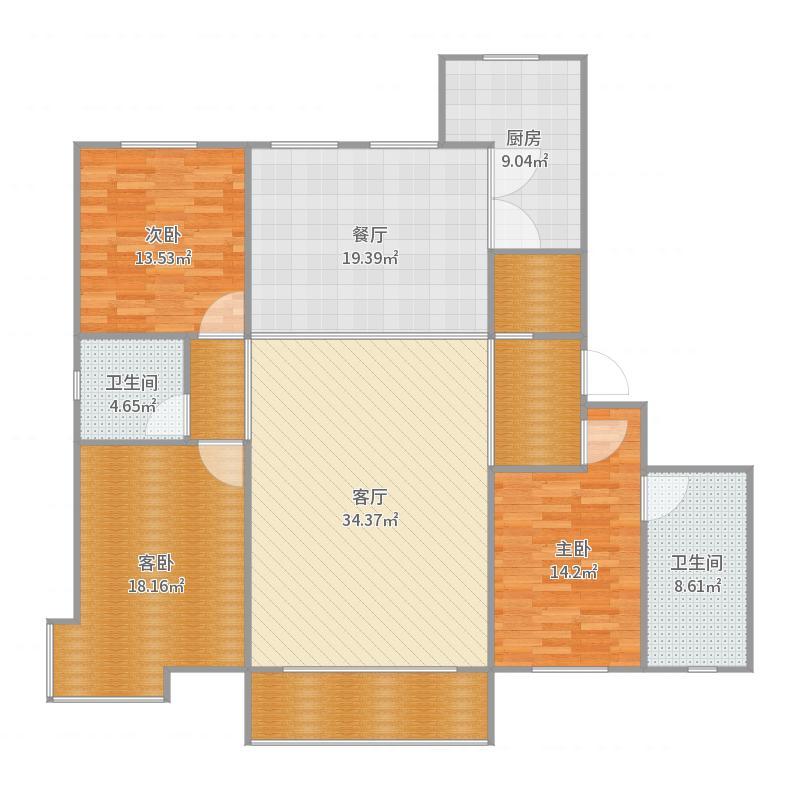 甘肃白银银珠家园18号楼101#195平米