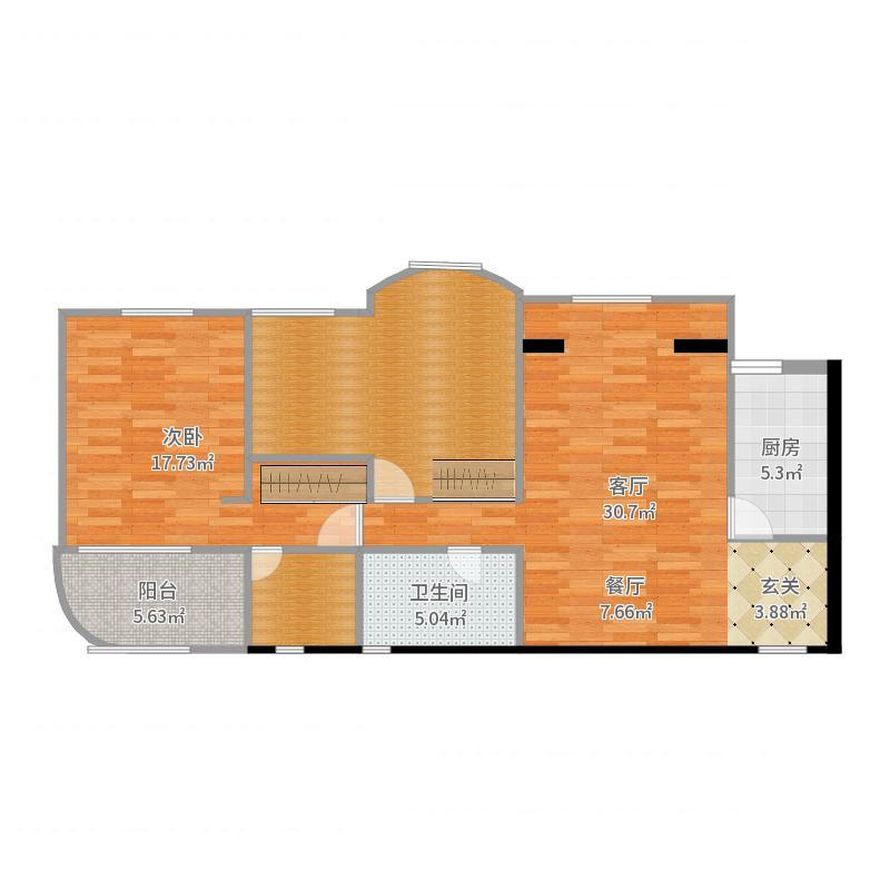 金淙苑04室户型图