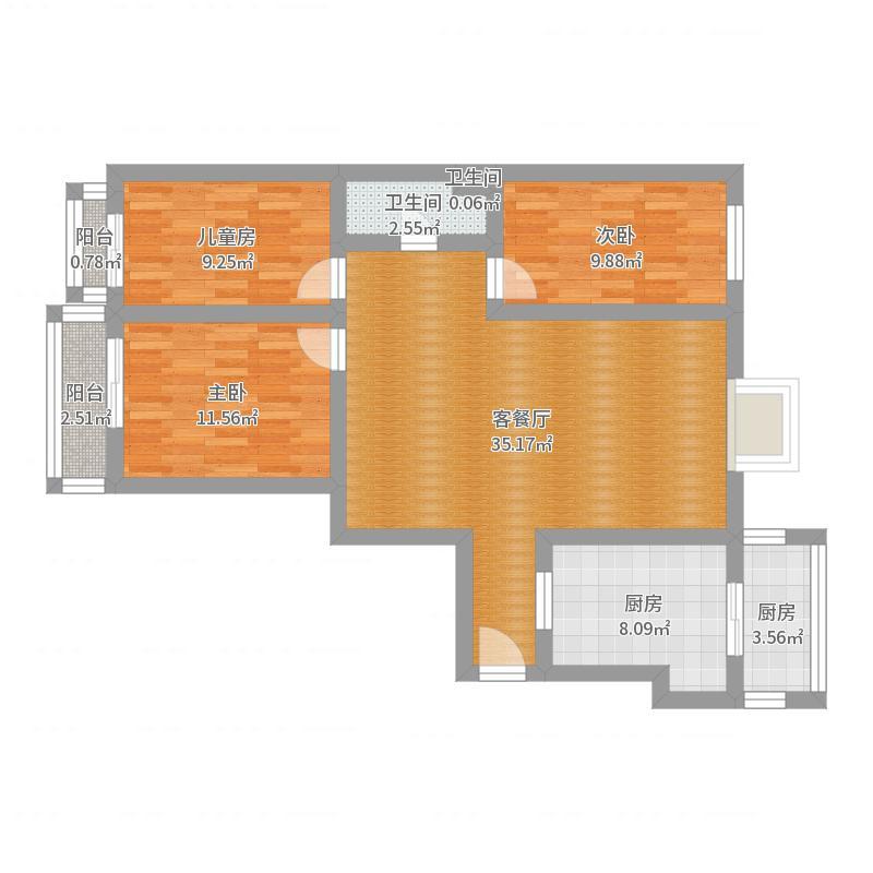 海天馨苑120户型图