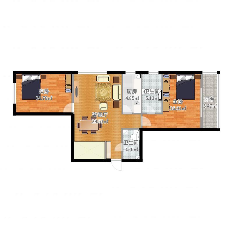 博龙家园-方案1户型图