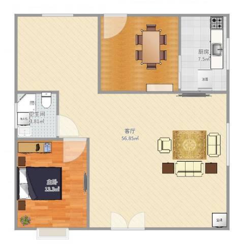东区自建房1室1厅1卫1厨118.00㎡户型图