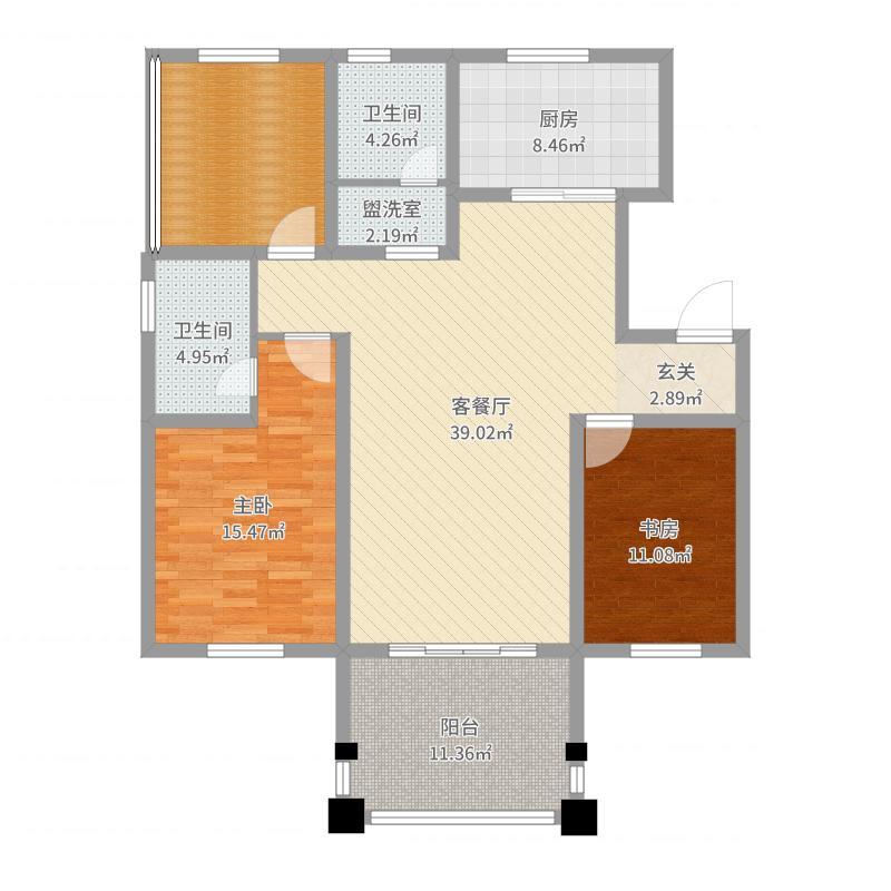 瑞宝壁纸美式整居-副本-副本户型图
