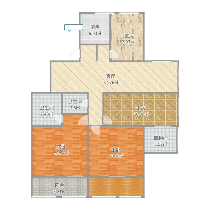 南京_恒基中心国际公寓_2017-07-26-2156户型图