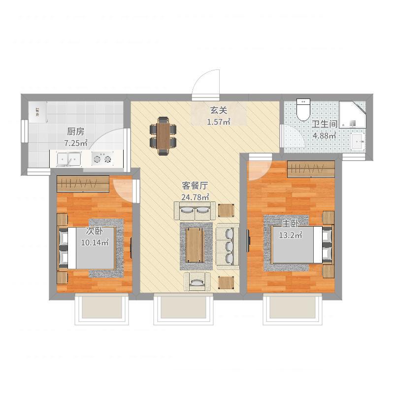 格尔森地板效果图、保利天禧户型图