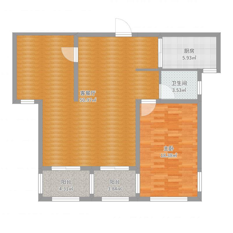 东城明珠9-1-1002-副本户型图
