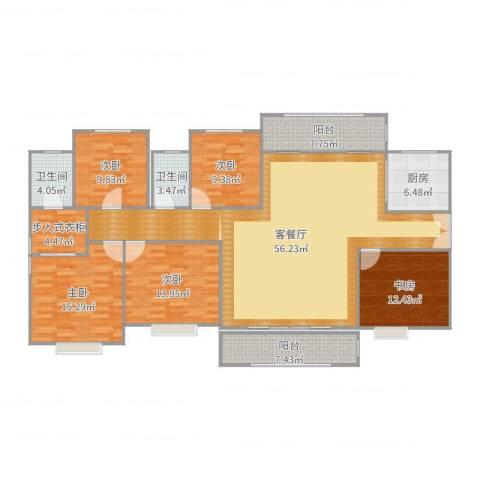 雄森・安仁新城5室2厅2卫1厨188.00㎡户型图