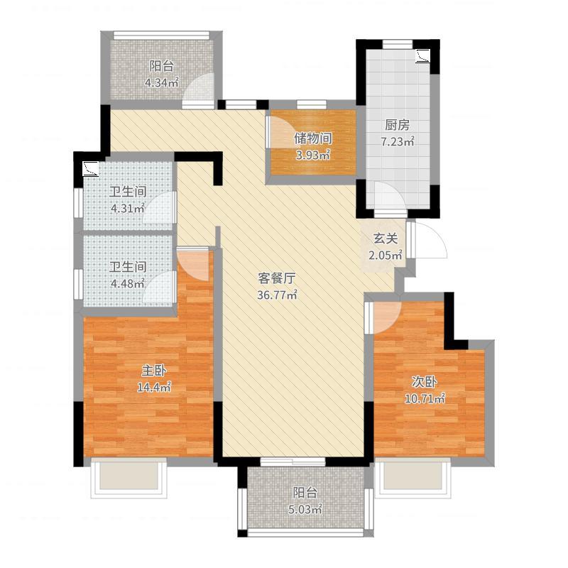 南京_世茂荣里_2017-07-27-1401户型图