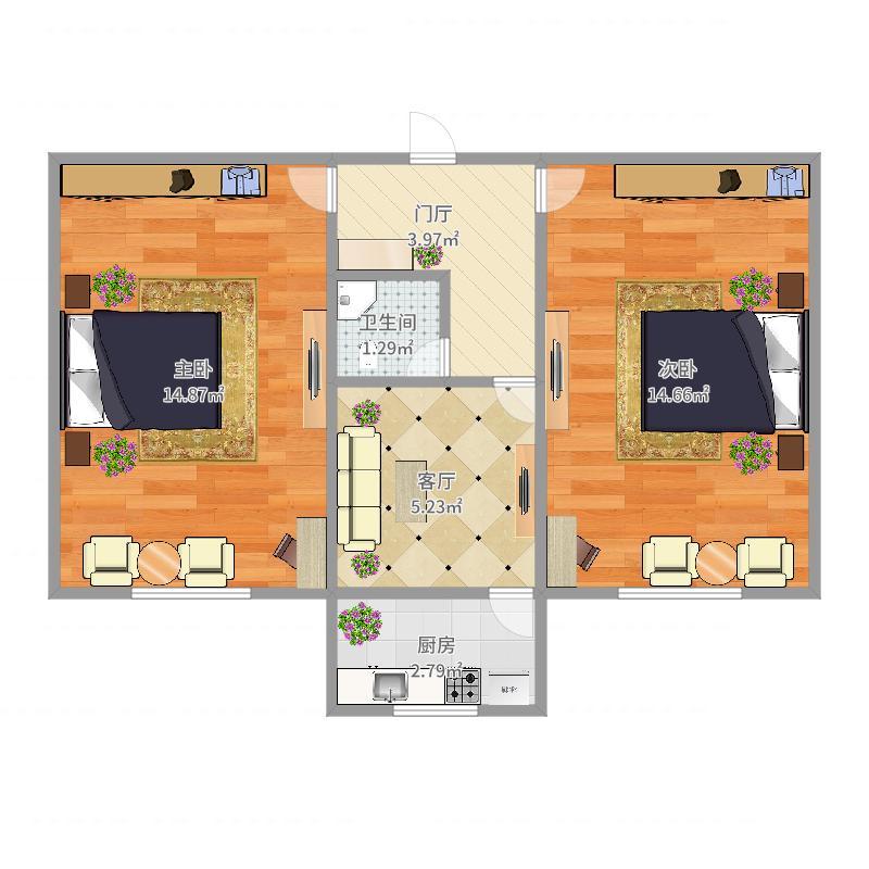 地毯厂路-18-1-1-2-503户型图