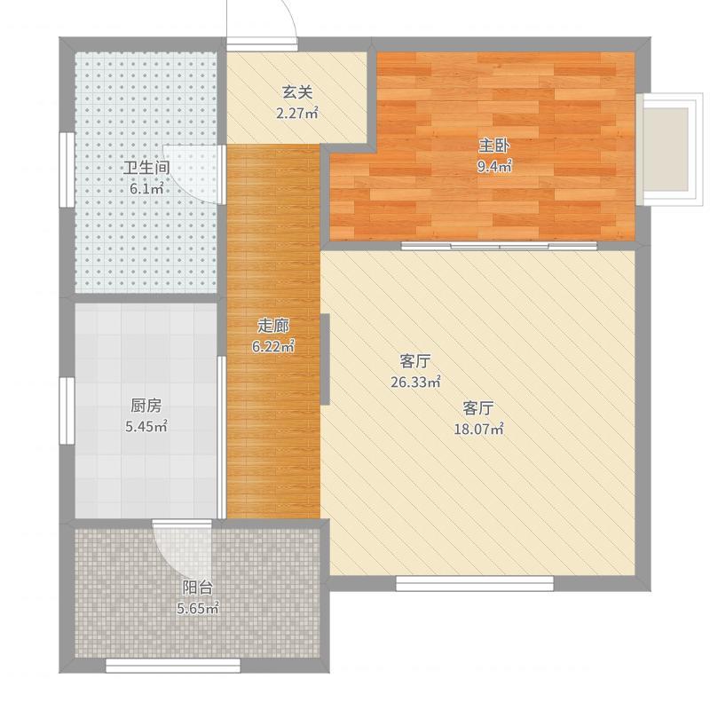 单生公寓7户型图