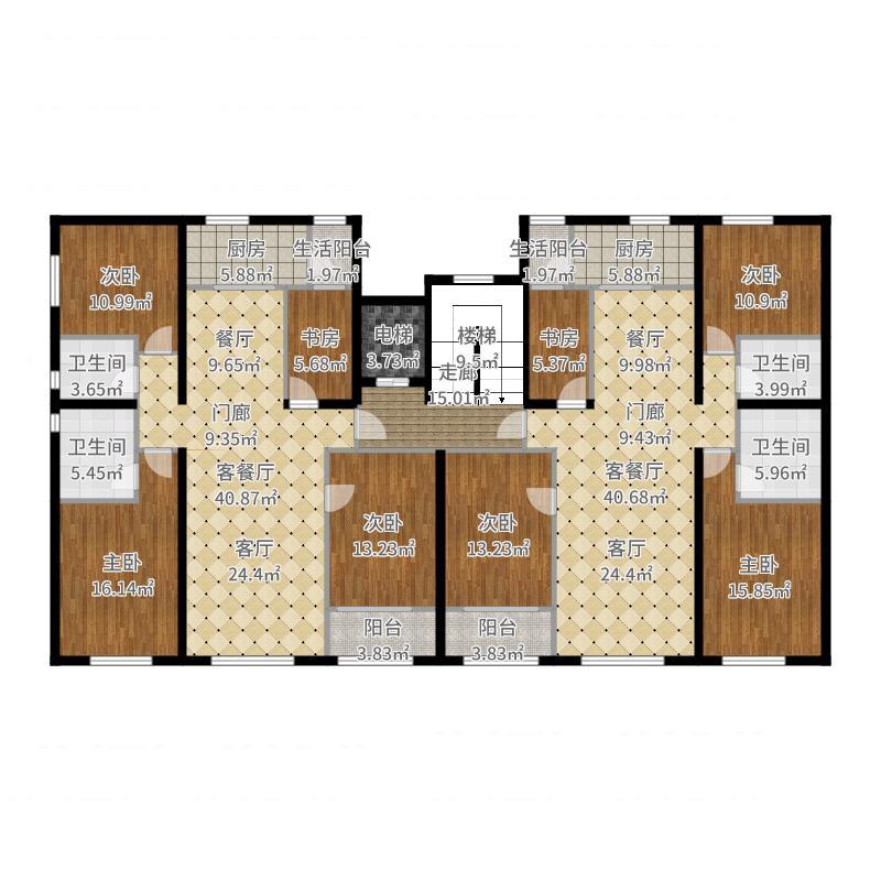 首旅・紫峰九院城通州于家务自住型商品房户型图